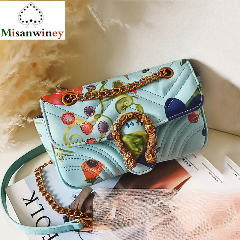 Fashion Brand Designer Embroidered Female Shoulder Bag Chain Crossbody Bags for Women Handbag Purse Leather Messenger Bag Clutch women tote vintage female cow leather handbag designer brands shoulder crossbody bag embroidered messenger cross body bags purse