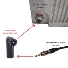 Adaptateur dantenne stéréo pour voiture, Radio antenne DIN vers coque en plastique ISO