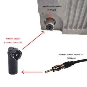 Image 1 - Adaptateur dantenne stéréo pour voiture, Radio antenne DIN vers coque en plastique ISO