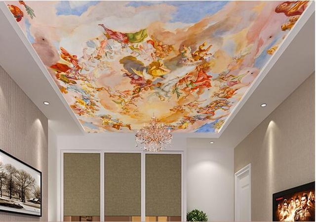 Wunderbar 3d Room Wallpaper Benutzerdefinierten Wandbild Vlies Engelsfigur  Europäischen Stil Garten Eden Decke Wandmalereien Foto 3d Wandbild
