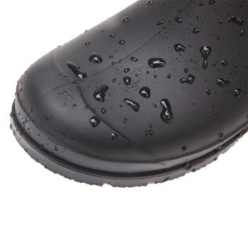 DRIPDROP Original Womens Rain Boots Hurricane Waterproof Black Matte Knee High Wellies Garden Work Wellington Boots