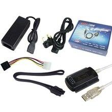 Câble et convertisseur USB vers IDE et USB vers SATA disque dur externe lecteur de lecteur optique câble USB vers Port série/parallèle 1 combinaison