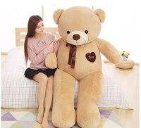 Огромный 180 см светло коричневый Love teddy bear игрушка плюшевые игрушки, обнимая подушку подарок на день рождения, b0770