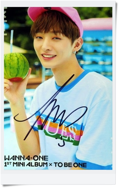 signed  WANNA ONE YOON JI SEONG autographed  photo TO BE ONE  6 inches  freeshipping  092017C