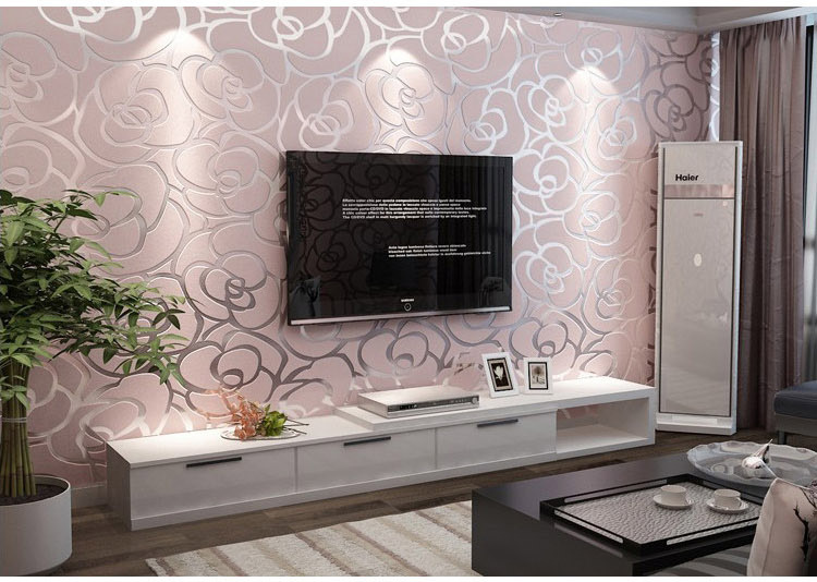 Achetez en gros rose peint en ligne des grossistes rose for 3d rose wallpaper for bedroom