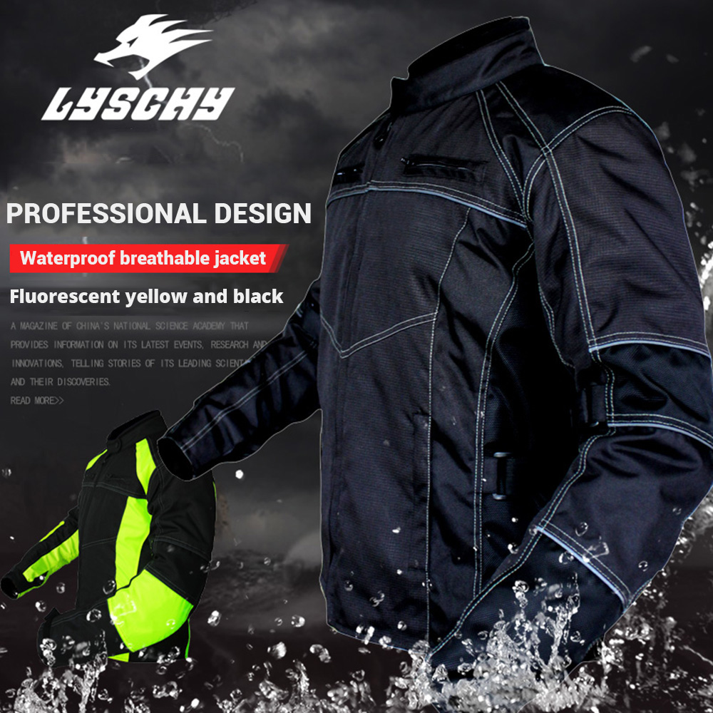 LYSCHY Motorcycle Jackets Men Motocross Motorbike Racing Jacket Oxford Riding Waterfroof Summer Breathable Reflective ClothesLYSCHY Motorcycle Jackets Men Motocross Motorbike Racing Jacket Oxford Riding Waterfroof Summer Breathable Reflective Clothes