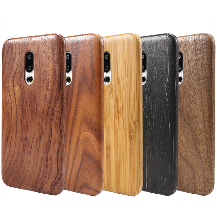 Image 2 - walnut Enony Wood Rosewood MAHOGANY  Wooden Slim Back Case Cover For Meizu 16th /16th PlusFitted Cases   -