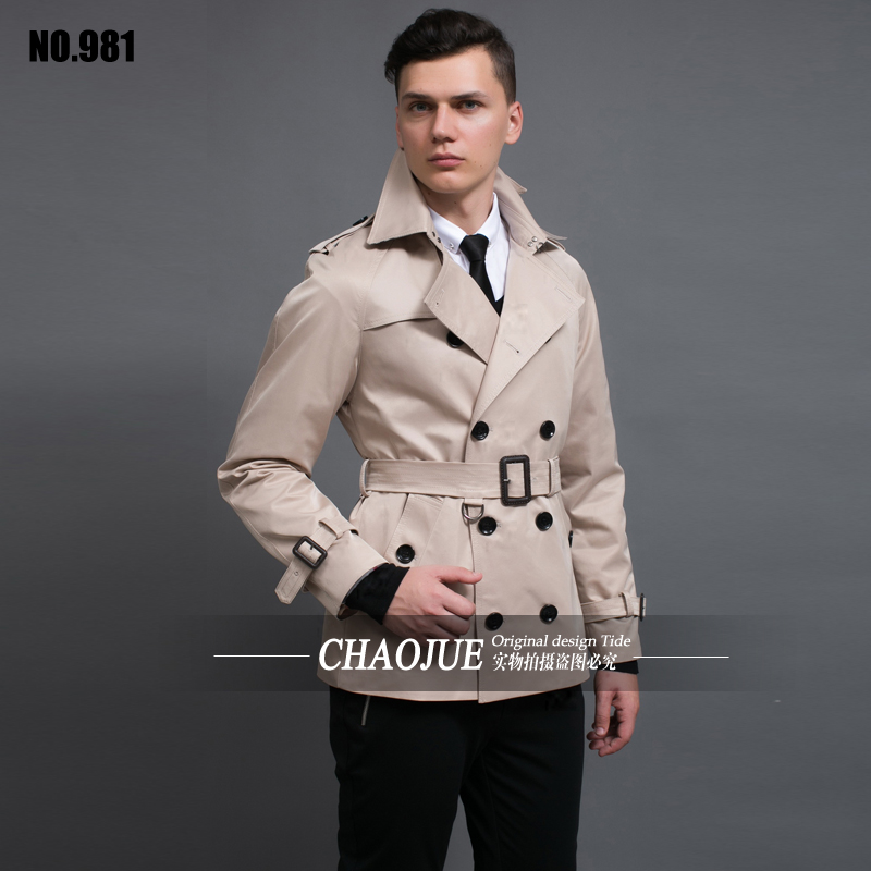 S 6XL Plus Size Double Breasted Black Trench Coat Men Slim Fit ...