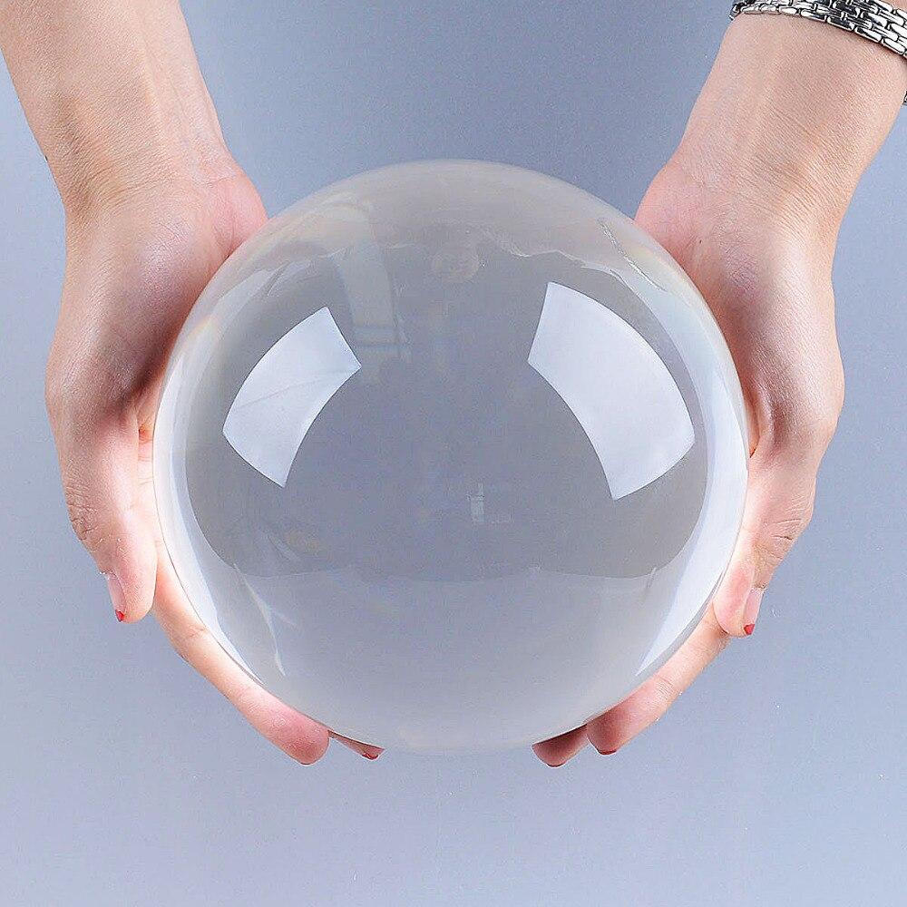 Ship from USA 150mm Rare Clear Asian Quartz feng shui ball Crystal Ball Sphere Fashion Table Decor Good Luck Ball Free Shipping