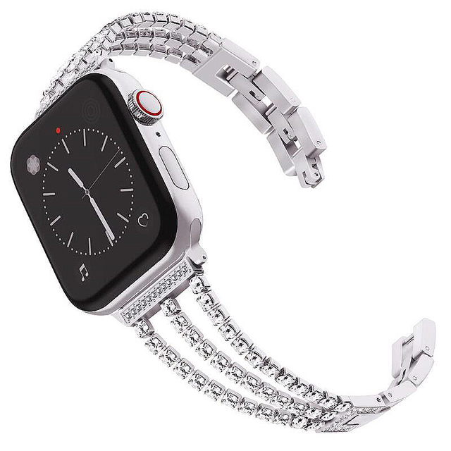 Rose Gold Strap For Apple Watch Band 44 40mm 42 38mm Luxury Rhinestone Bracelet For Iwatch Series 4 3 2 1 Stainless Steel Belt In Watchbands From Watches On Aliexpress Com Alibaba Group
