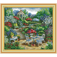 The Garden Comer 2 Counted Cross Stitch 11CT 14CT Cross Stitch Set Wholesale Chinese Cross Stitch