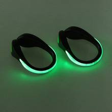 2 Pcs LED Luminous Shoe Clip Light Night Safety Warning LED Bright Flash Light For Running Cycling Bike Drop Shipping