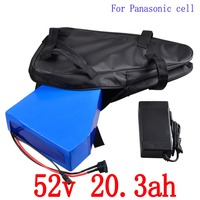 52V electric bike battery 52V 20AH Lithium Battery 52V 1000W   2000W ebike battery use panasonic cell with 5A charger free duty