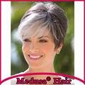 Медуза продукты волос: готова эльфа вырезать стили Синтетических пастельные парики для женщин Короткий прямой цвет Смешивания парик с челкой SW0058A