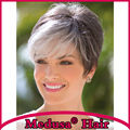 Medusa hair products: Poised pixie cut styles Synthetic pastel wigs for women Short straight Mix color wig with bangs SW0058A