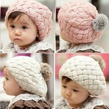 new autumn winter faux rabbit fur crochet baby beanie kids hats newborn bebes bonnet cap for 0-3 year old girl,photography props