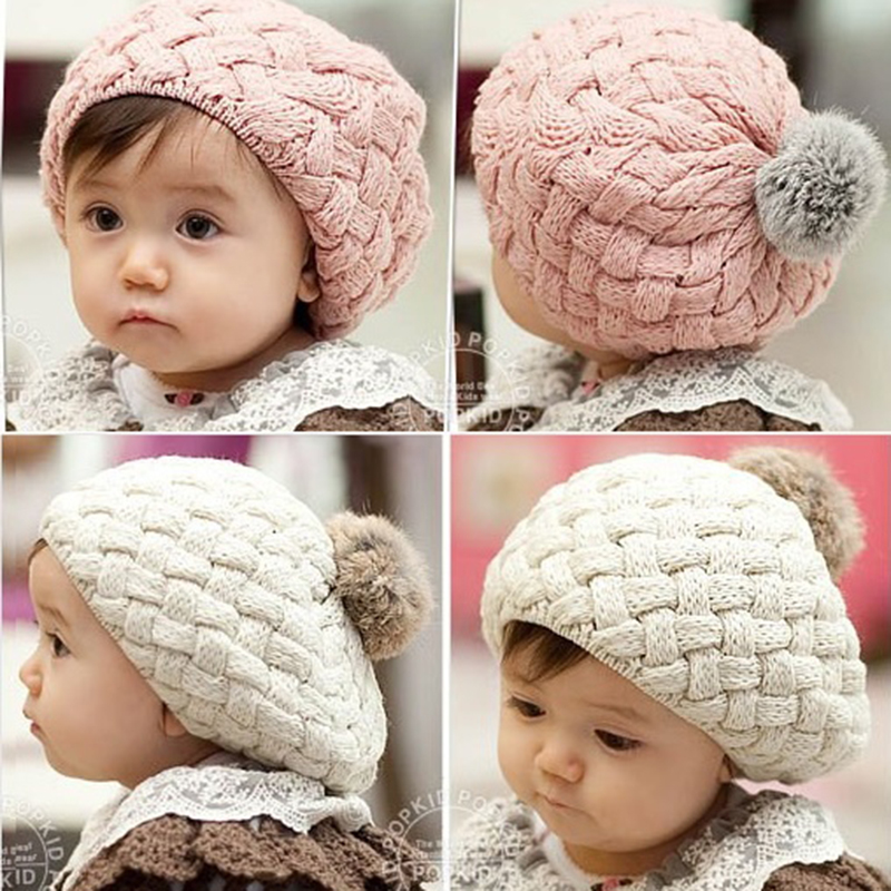 Baby Infant Knitted Heart Striped Cap Hospital Newborn Soft Beanie Warm Hat LH
