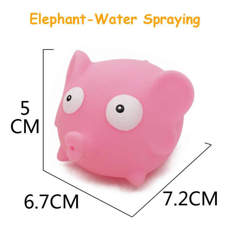 1 piezas bebé juguetes de baño de goma suave animales de dibujos animados lindo baño juguetes pez león de cocodrilo para los niños las niñas