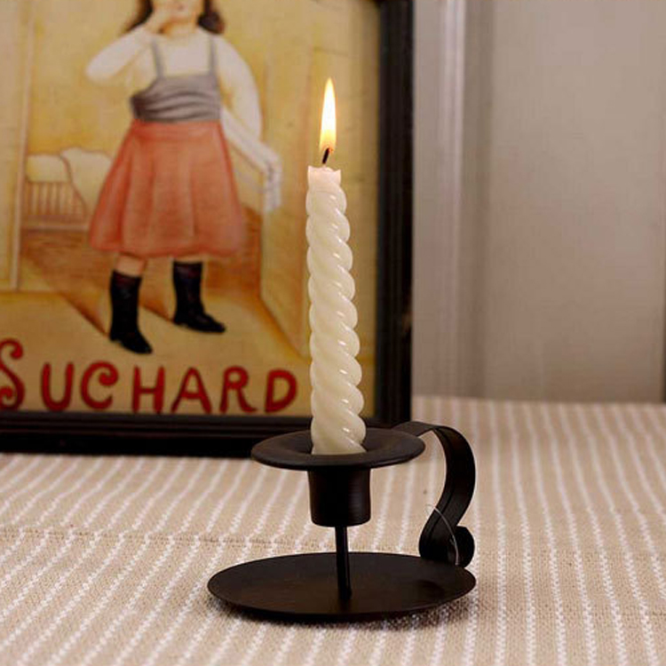 US $14 3 |2pcs/lot Black Novelty Metal Morocco Candle Holder Stick Vintage  Classical Simple Table Lamp for Romantic Dinner Birthday Party-in Candle