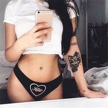 492d0069b Roupa Interior das mulheres Lingerie Sexy Carta Gatinho Erótico Calcinhas  Mulheres Briefs Underwear Cintura Baixa Senhoras