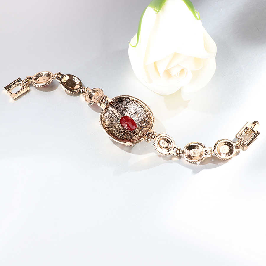 Kinel אופנה בציר תכשיטי צמיד לנשים דובאי זהב צבע סגלגל חתונה תכשיטי אירוסין מסיבת מתנה של אהבה