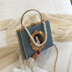 Image 2 - ヴィンテージ油絵バッジファッションpu女性パーティートートバッグクロスボディバッグ女性のためのポーチハンドバッグトート財布