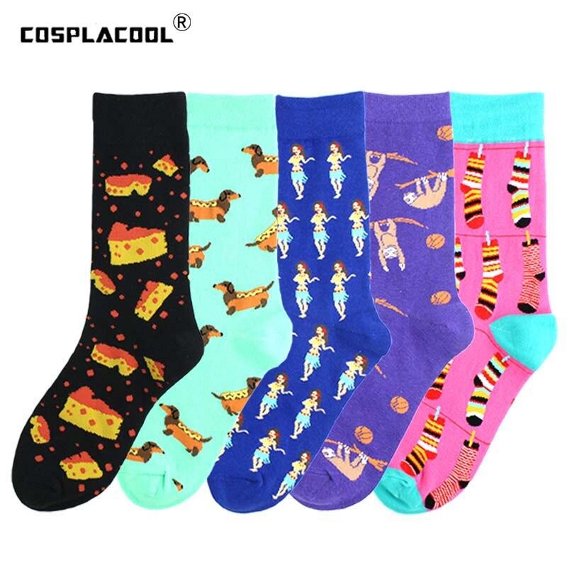 Happy Harajuku Funny Socks Women Crazy Cotton Monkey Cartoon Socks Hip Hop Street Girl Cute Socks Cool Unisex Skarpetki Sokken