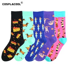 Happy Harajuku Funny Socks Women Crazy Cotton Monkey Cartoon Hip Hop Street Girl Cute Cool Unisex Skarpetki Sokken