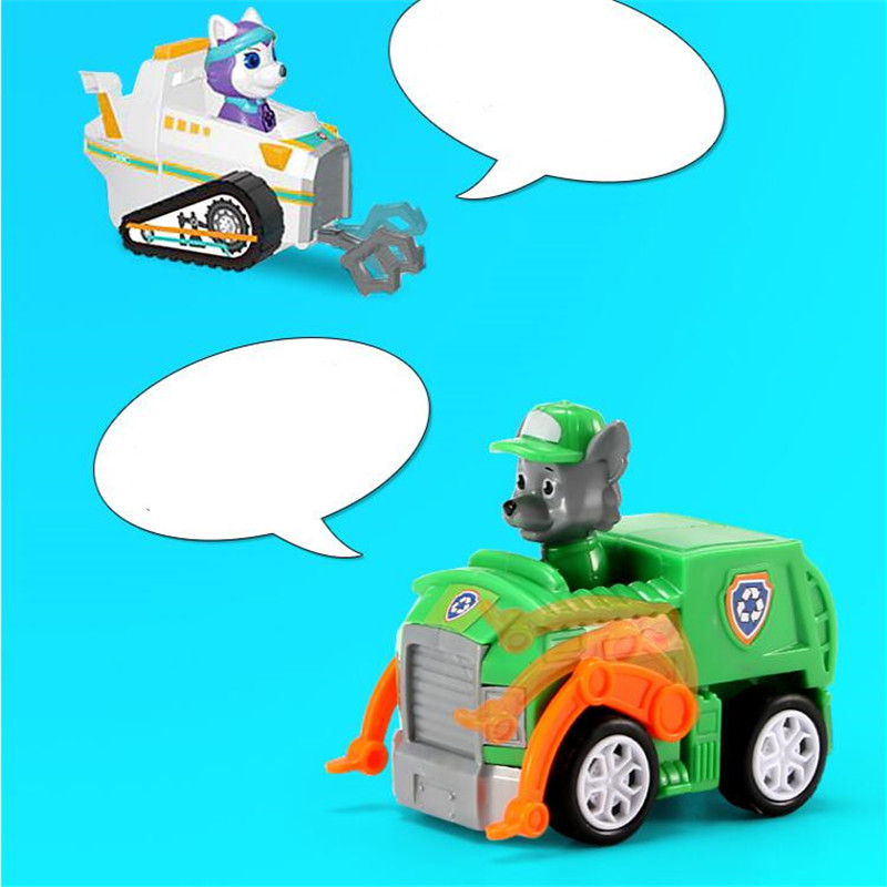Paw Patrol Dog 7pcs set Puppy Patrol Car Patrulla Canina Action Figures vinyl doll Toy Kids Children Toys Gifts in Action Toy Figures from Toys Hobbies
