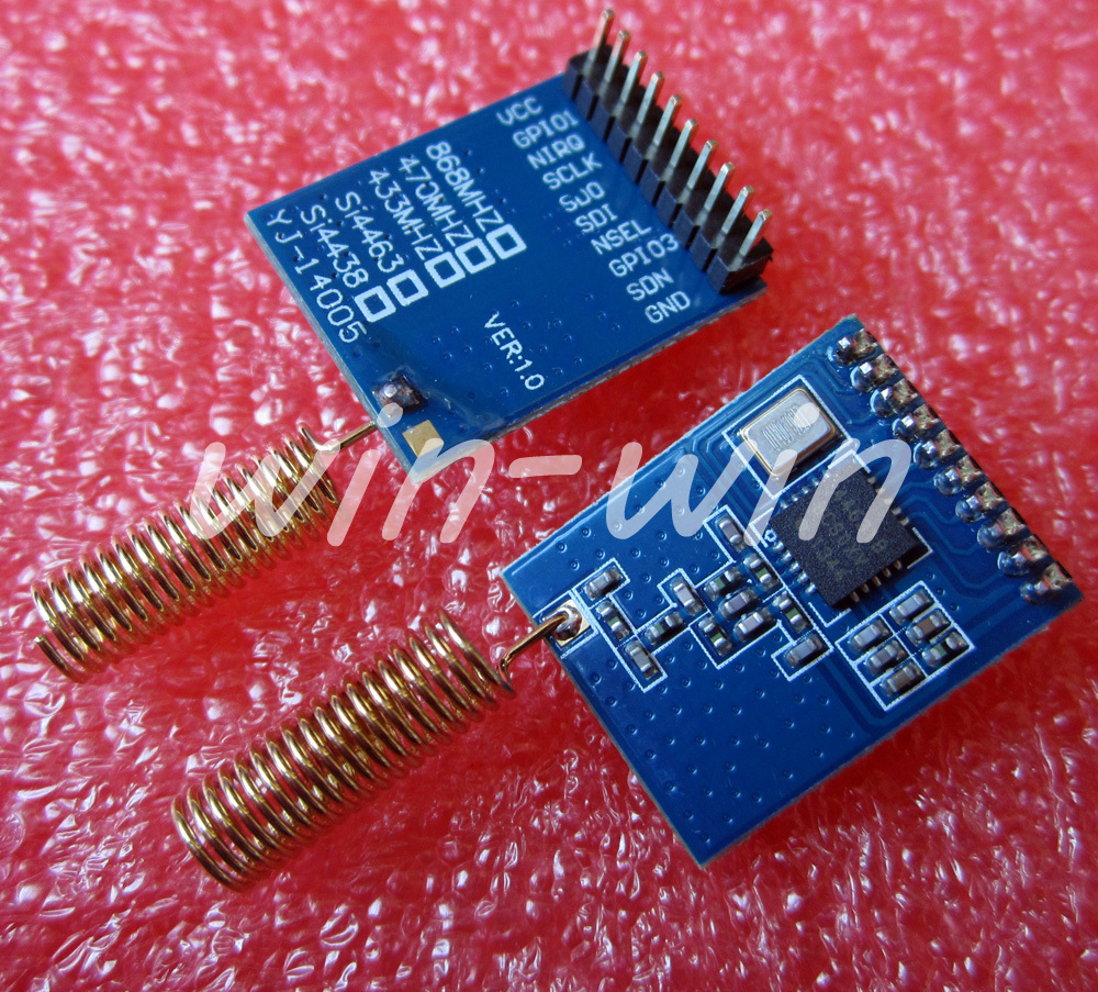 1PCS 433MHz SI4463 Wireless Transmission Module 10mnW Wireless Module NEW