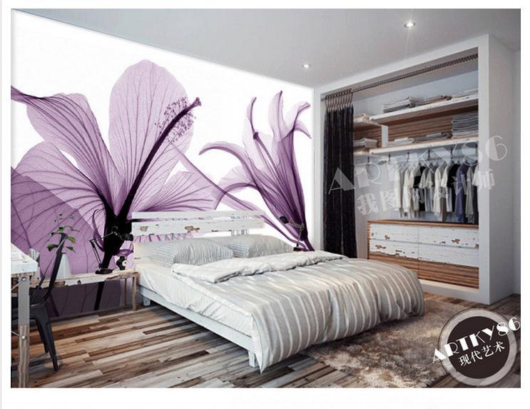 Fototapete wohnzimmer lila  Online Get Cheap Lily Textil Blumen -Aliexpress.com | Alibaba Group