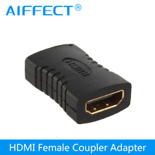 цена на AIFFECT HDMI Female To HDMI Female Cable Adapter coupler connector  24K Gold Plated converter for HDTV 1080P HDMI adapter