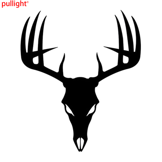 15 18cm 3d funny car styling stickers buck deer skull car stickers rh aliexpress com Deer Head Logo Deer Hunting Logos