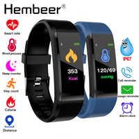 Bracelet de santé mesure de la pression artérielle moniteur de fréquence cardiaque Tracker de Fitness bande intelligente podomètre Bracelet pk fitbits miband 3