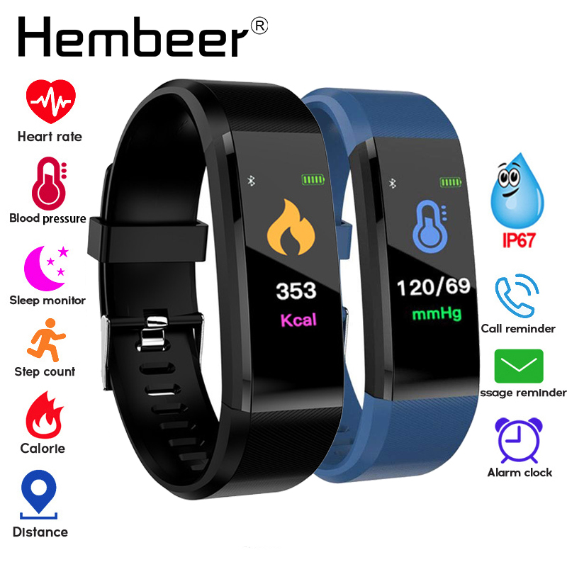 Health Bracelet Blood Pressure Measurement Heart Rate Monitor Fitness Tracker Smart Band Pedometer Wristband Pk Fitbits Miband 3