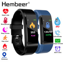 Health Bracelet Blood Pressure Measurement Heart Rate Monitor Fitness Tracker Smart Band Pedometer Wristband pk fitbits miband 3(China)