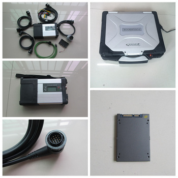 Newest MB Star C5 SD Conenct c5 with laptop CF-30 diagnostic PC TOUGHBOOK +mb star c5 newest software V2019.12 sd for sd c5