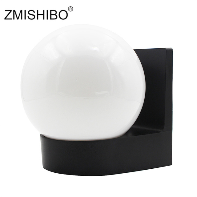 ZMISHIBO E27 Outdoor Garden Porch Wall Lights 100-240V White Plastic Surface Mounted IP54 Waterproof For Corridor Balcony Stair