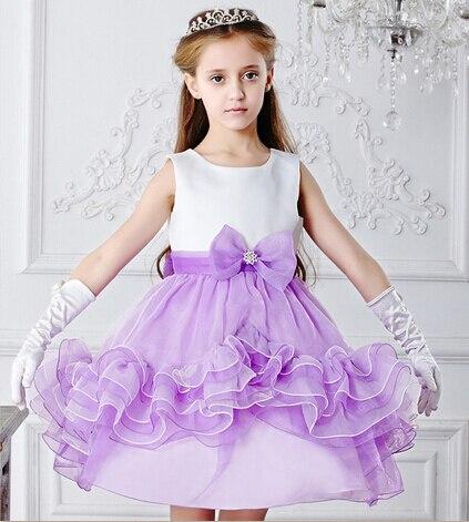 2017 New Short Wedding Dress Spring Summer Cute Bohemian Prom Dresses Purple S Child