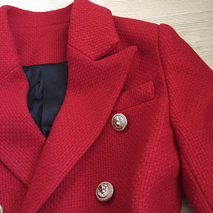 Image 5 - HIGH QUALITY Newest Fashion 2020 Fall Winter Designer Blazer Jacket Womens Classic Lion Buttons Tweed Wool Blazer Coat