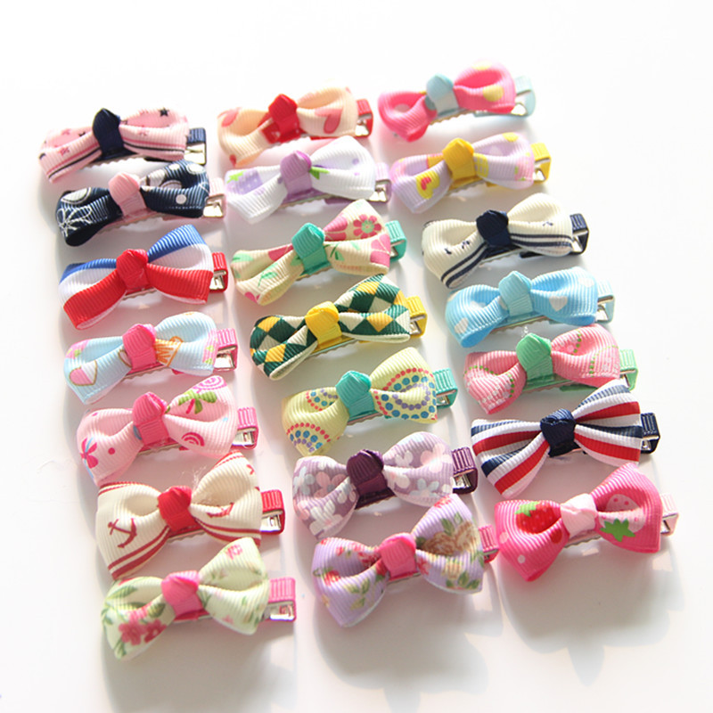 1PCS 2017 Cute Baby Hairgrips Girls Hair Clips Mini Bowknot Hair Accessories Infant Headwear Small Hairpin For Children Barrette  2pcs 1lot little ponys princess braid wig hair clips hairpin headdress party hairgrips cosplay hair accessories headband