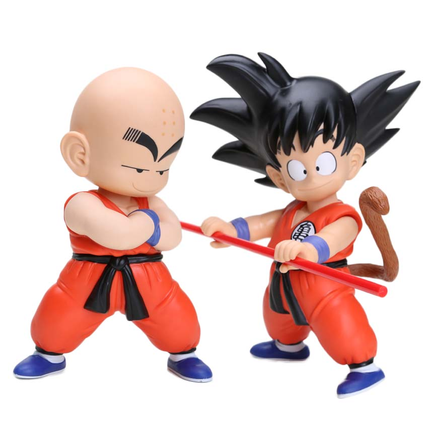 Us 1921 37 Off2pcsset Dragon Ball Action Figure Dragonball Kid Kuririn Son Goku Pvc Action Figure Model Toys Boys Christmas Gifts In Action Toy