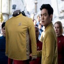 Womens Clothing Accessories - Costumes  - Star Trek Beyond Costume Cosplay Star Trek Yellow Captain Kirk Uniform Spock Uniform Scotty Halloween Party Prop