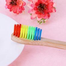 10PCS Rainbow Bamboo ToothBrush