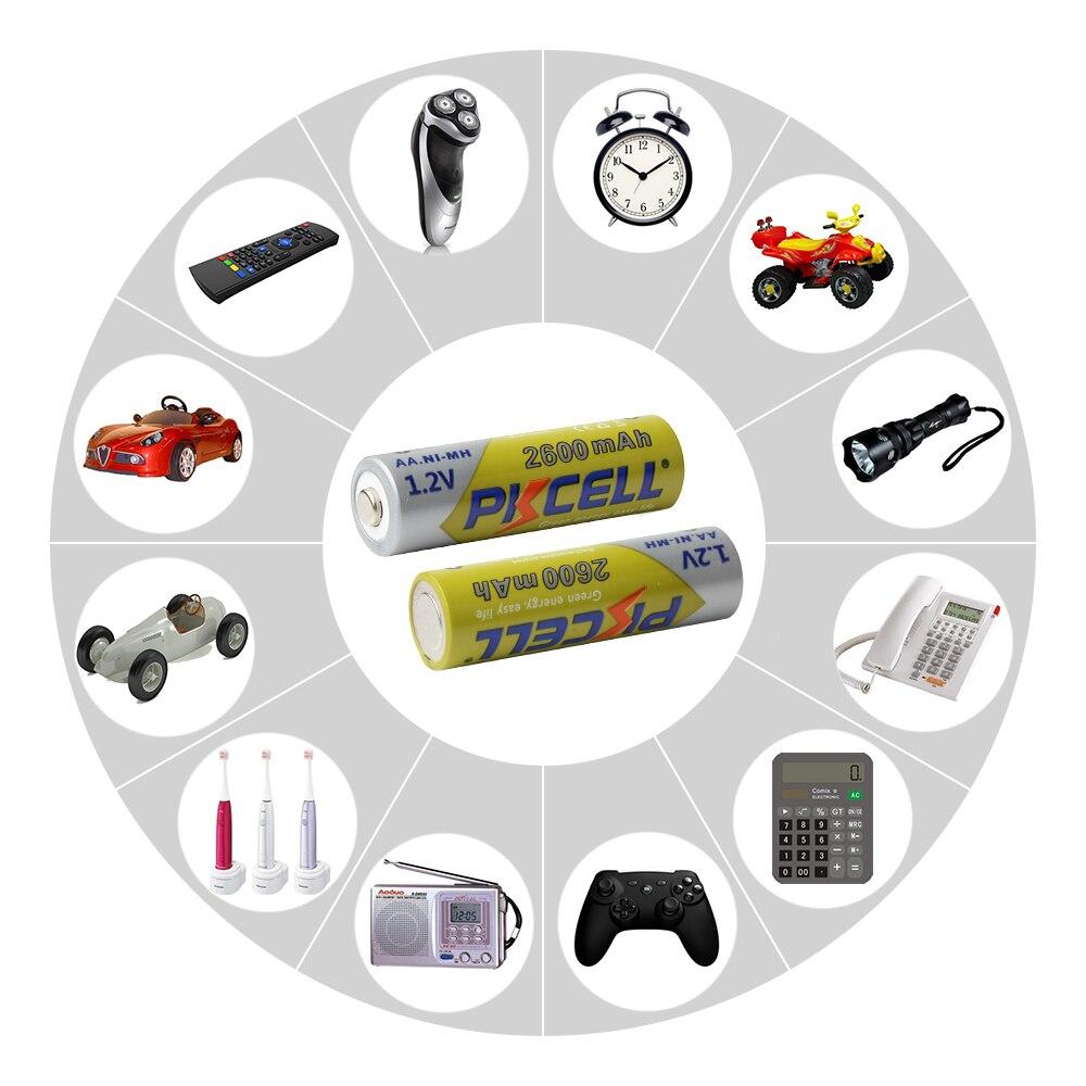 2 шт/8 шт PKCELL Ni-MH AA батареи 2600 mAh 1,2 V NiMh аккумуляторная батарея для камеры