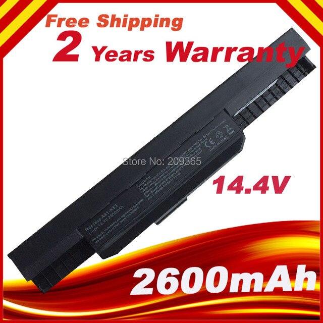 14.4 В 4 батарея Для Asus X54H X53S X53U A53S K43 K53E K53U X84S A43 A53 A53E X44 X43 A43 K53S K53SV K53J A41-K53 A32-K53