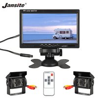 Jansite 7 TFT LCD Wired HD Car Monitor Display Cameras Reverse Camera Parking System for Car Rear view Monitor Applicable truck