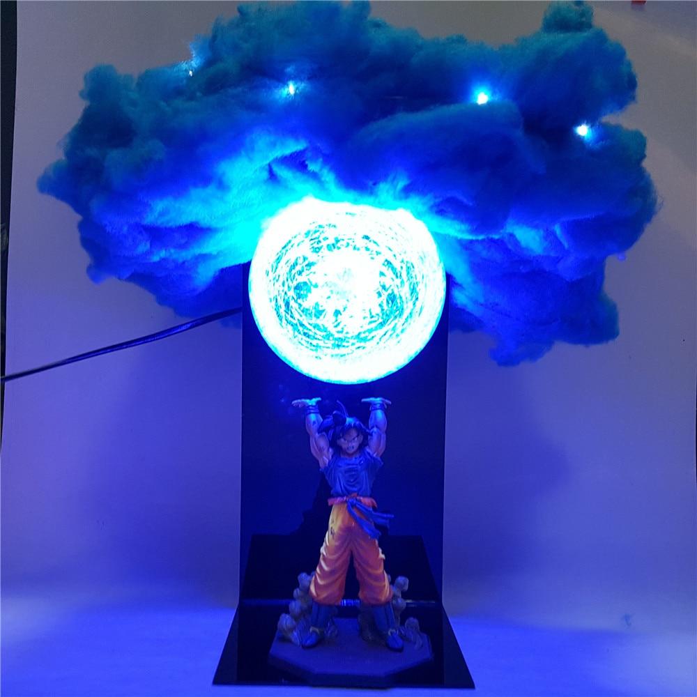 Dragon Ball Z Figure fils Goku Genki damaSpirit bombe nuage bricolage lumière LED ensemble Dragon Ball Super Goku Anime Figure PVC modèle jouet