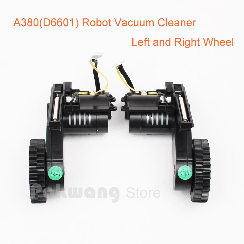 Original A380 Robot vacuum cleaner Wheels, Left Wheel 1 pc and Right Wheel 1 pc, A380 (D6601) Vacuum Cleaner Parts цена