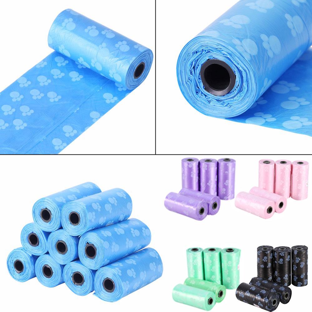Clean-Bag Dog-Poop-Bag Biodegradable Outdoor-Carrier Pets-Waste-Garbage-Bags Waste-Pick-Up
